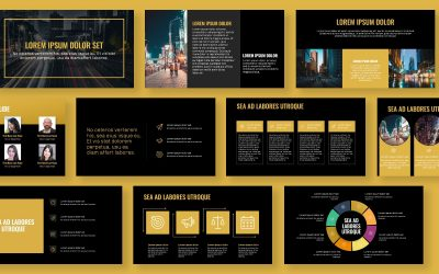 OSLO PROFESSIONAL DARK GOLD FREE POWERPOINT TEMPLATE