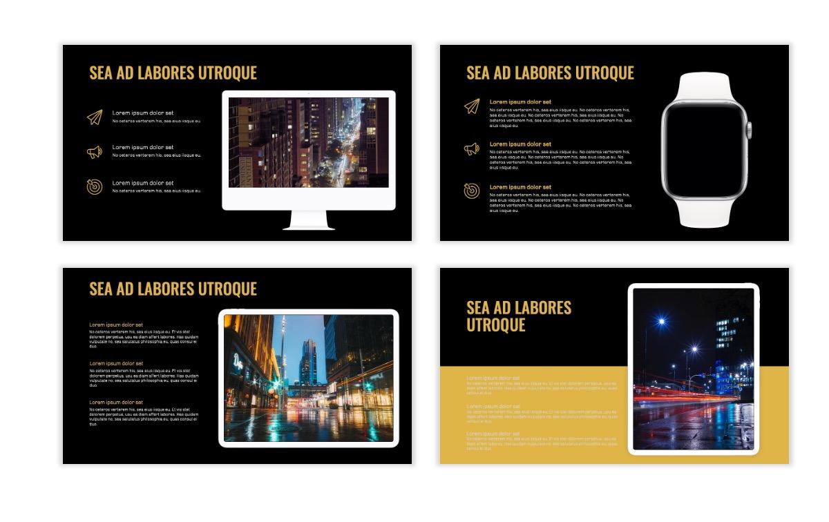 OSLO - Minimal - Dark Gold - Business - Professional - Aesthetic - Clean - Minimal Slide10