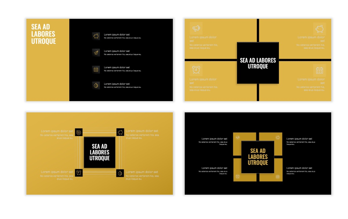 OSLO - Minimal - Dark Gold - Business - Professional - Aesthetic - Clean - Minimal Slide16