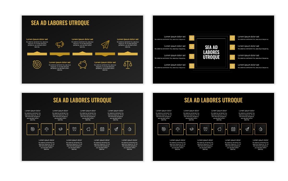 OSLO - Minimal - Dark Gold - Business - Professional - Aesthetic - Clean - Minimal Slide20