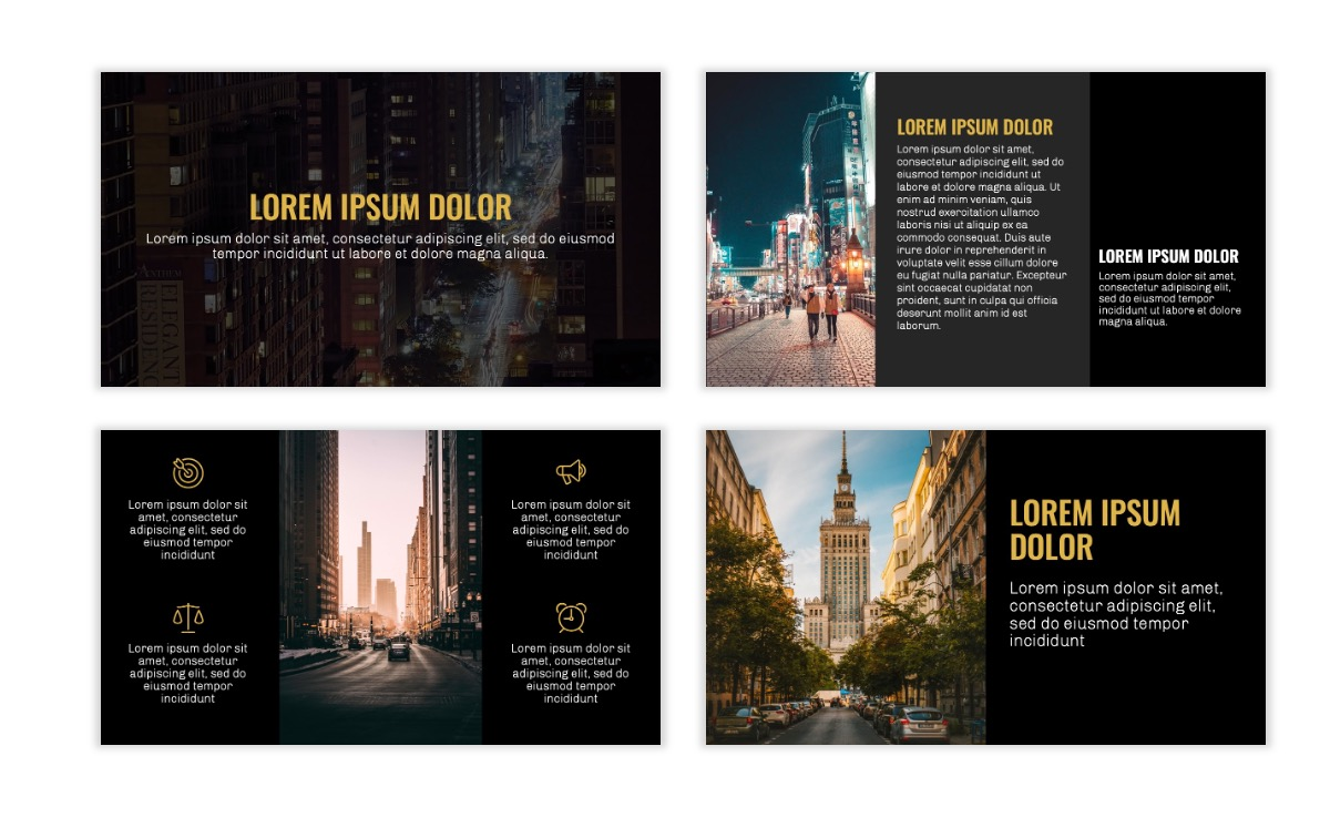 OSLO - Minimal - Dark Gold - Business - Professional - Aesthetic - Clean - Minimal Slide3