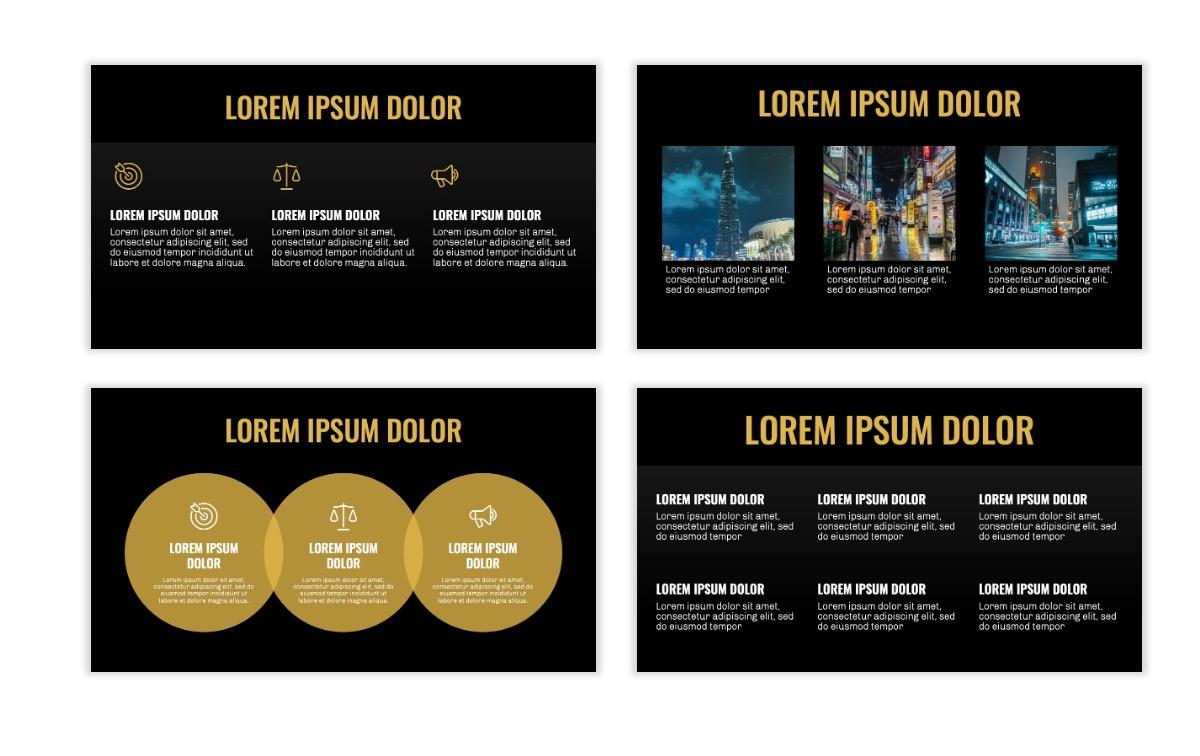 OSLO - Minimal - Dark Gold - Business - Professional - Aesthetic - Clean - Minimal Slide4