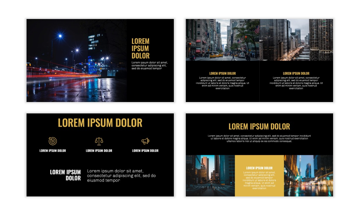 OSLO - Minimal - Dark Gold - Business - Professional - Aesthetic - Clean - Minimal Slide6
