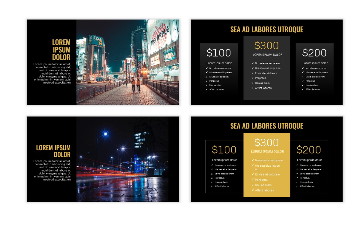 OSLO - Minimal - Dark Gold - Business - Professional - Aesthetic - Clean - Minimal Slide8
