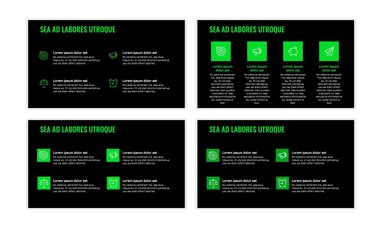 OSLO - Minimal - Dark Green - Business - Professional - Aesthetic - Clean - Minimal Slide11