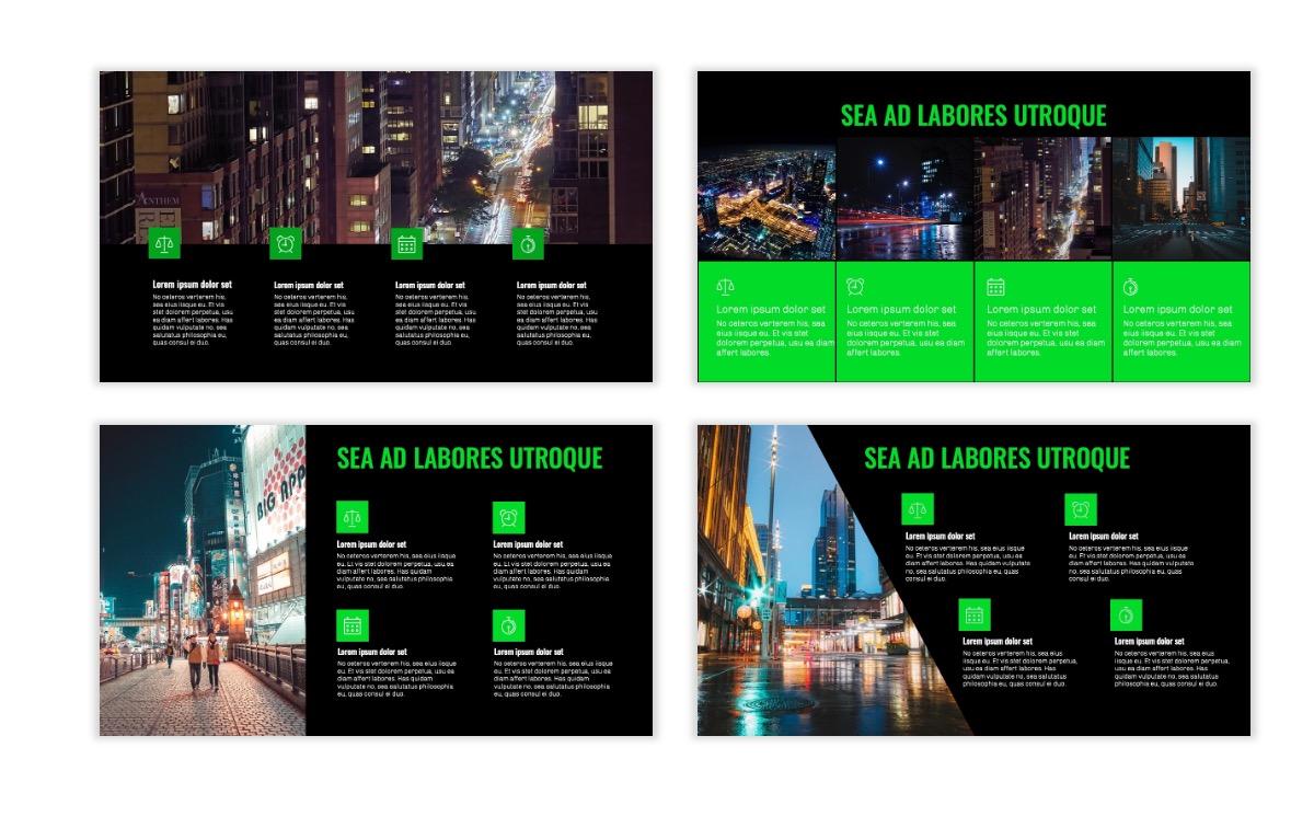 OSLO - Minimal - Dark Green - Business - Professional - Aesthetic - Clean - Minimal Slide14