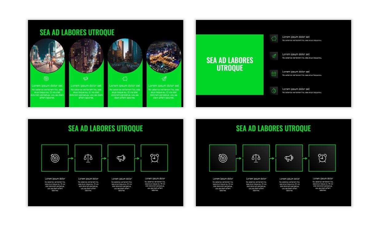 OSLO - Minimal - Dark Green - Business - Professional - Aesthetic - Clean - Minimal Slide15