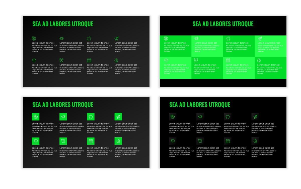 OSLO - Minimal - Dark Green - Business - Professional - Aesthetic - Clean - Minimal Slide18