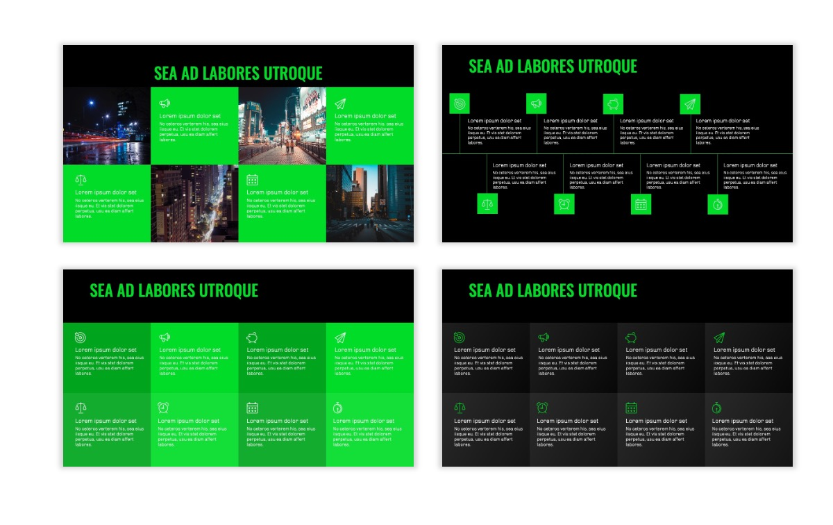 OSLO - Minimal - Dark Green - Business - Professional - Aesthetic - Clean - Minimal Slide19