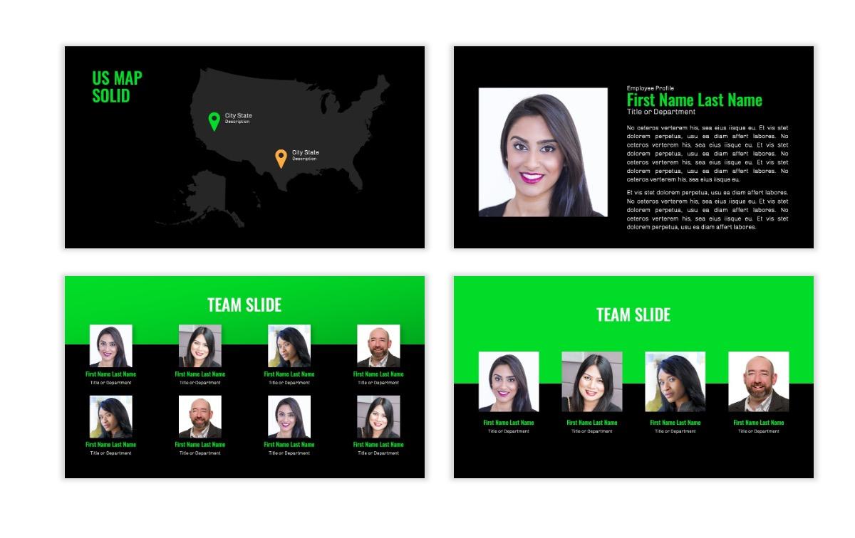 OSLO - Minimal - Dark Green - Business - Professional - Aesthetic - Clean - Minimal Slide24