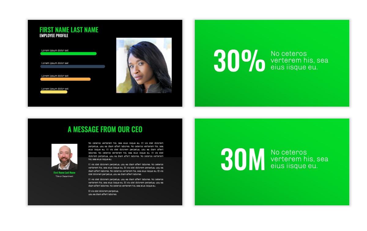OSLO - Minimal - Dark Green - Business - Professional - Aesthetic - Clean - Minimal Slide25