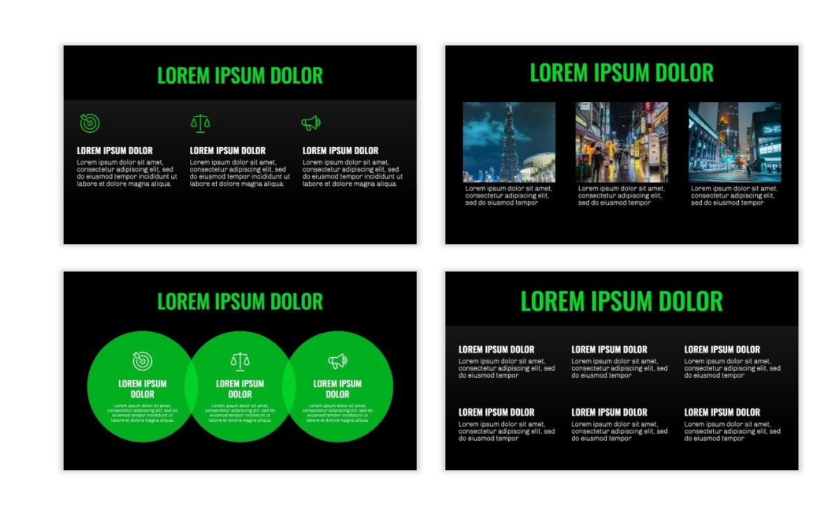 OSLO - Minimal - Dark Green - Business - Professional - Aesthetic - Clean - Minimal Slide4