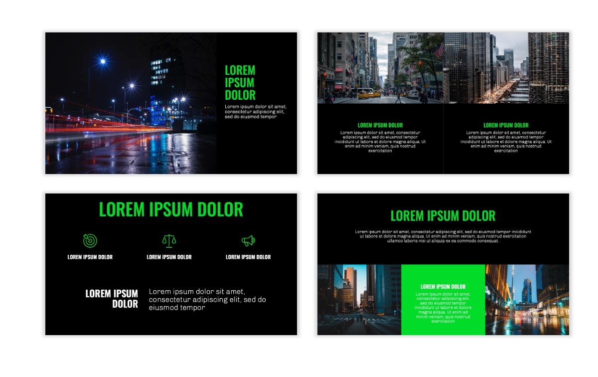 OSLO - Minimal - Dark Green - Business - Professional - Aesthetic - Clean - Minimal Slide6