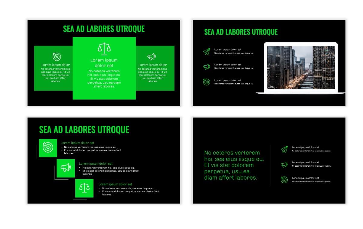 OSLO - Minimal - Dark Green - Business - Professional - Aesthetic - Clean - Minimal Slide9