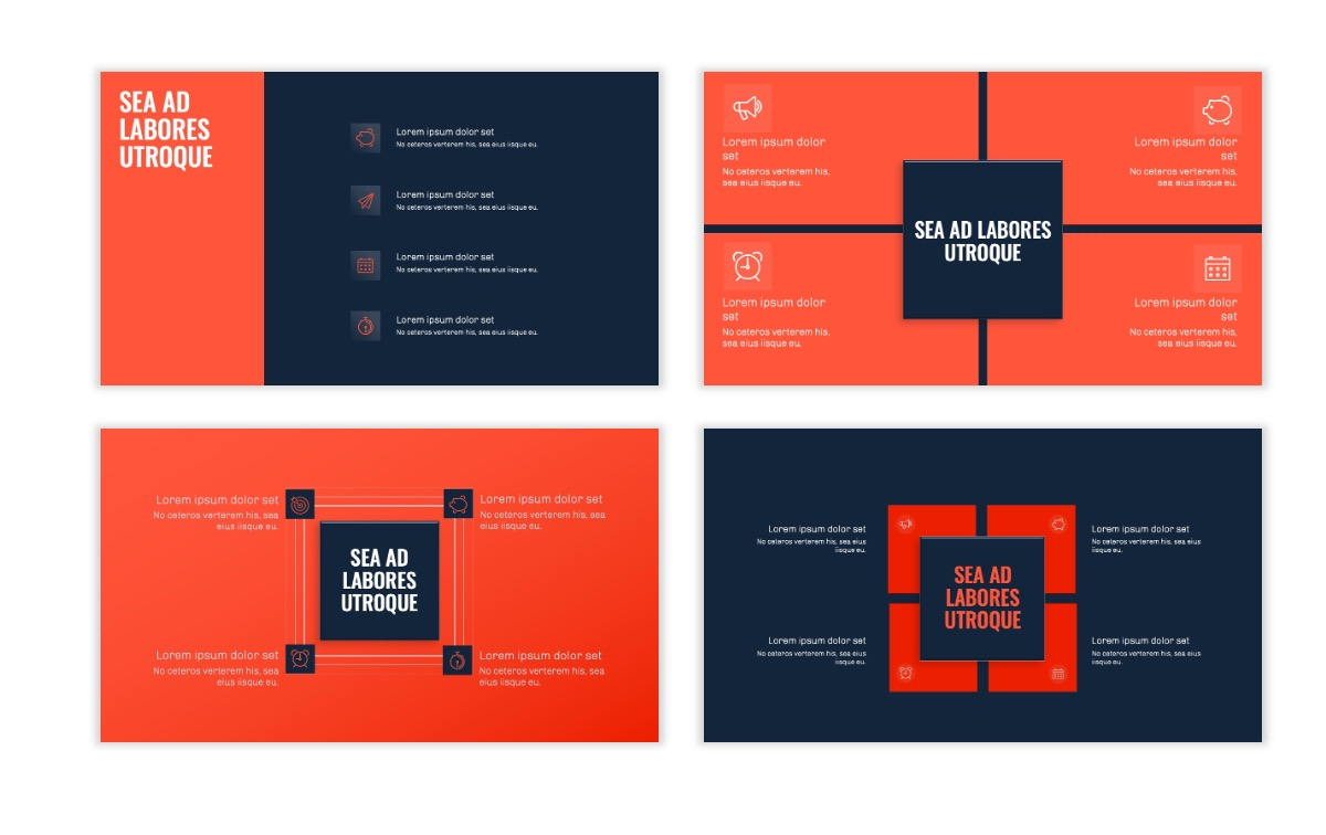 OSLO - Minimal - Dark Navy & Coral - Business - Professional - Aesthetic - Clean - Minimal Slide16