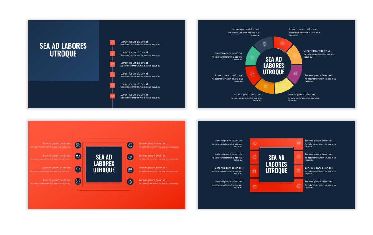OSLO - Minimal - Dark Navy & Coral - Business - Professional - Aesthetic - Clean - Minimal Slide21