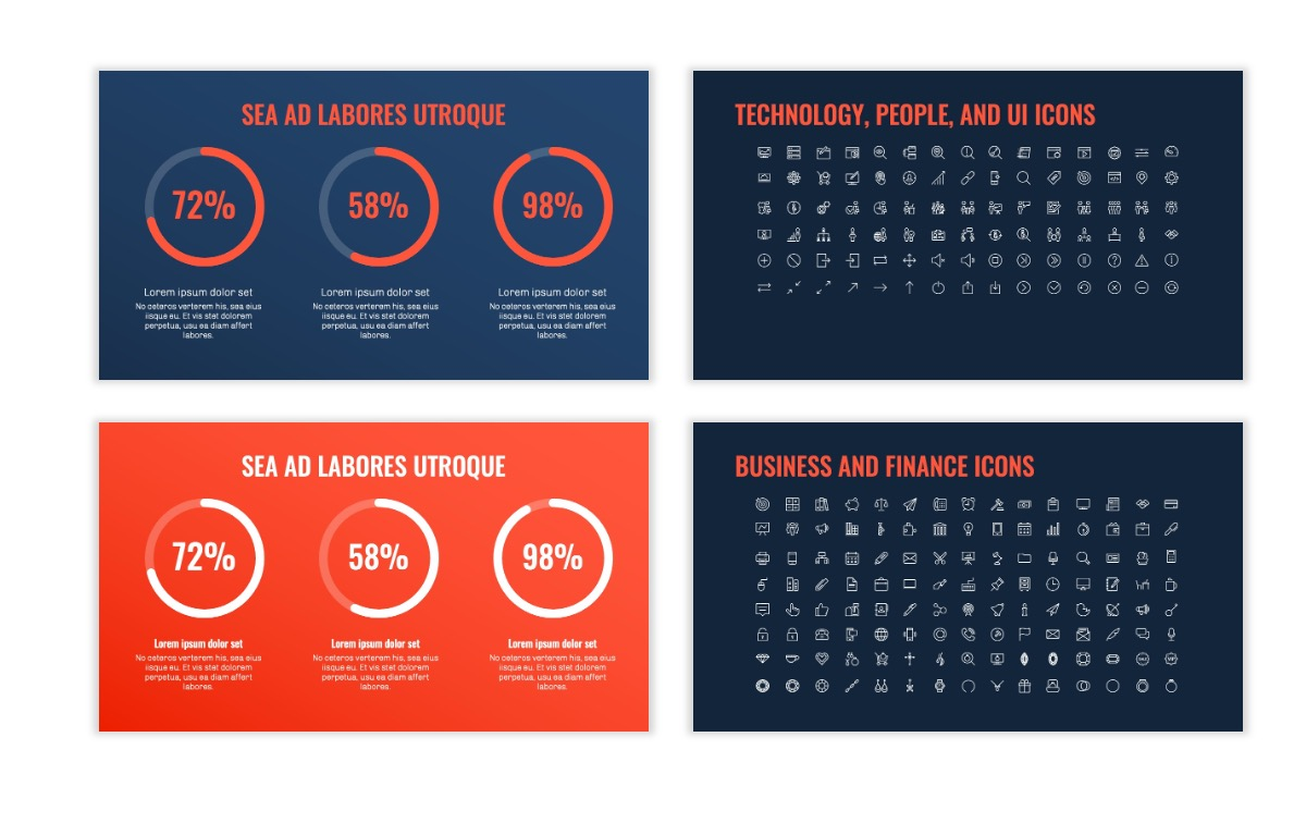 OSLO - Minimal - Dark Navy & Coral - Business - Professional - Aesthetic - Clean - Minimal Slide26