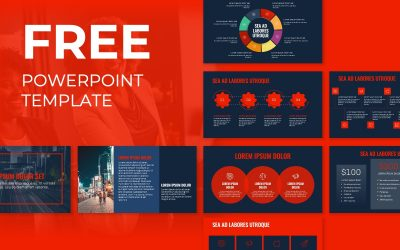 OSLO PROFESSIONAL NAVY AND RED FREE POWERPOINT TEMPLATE