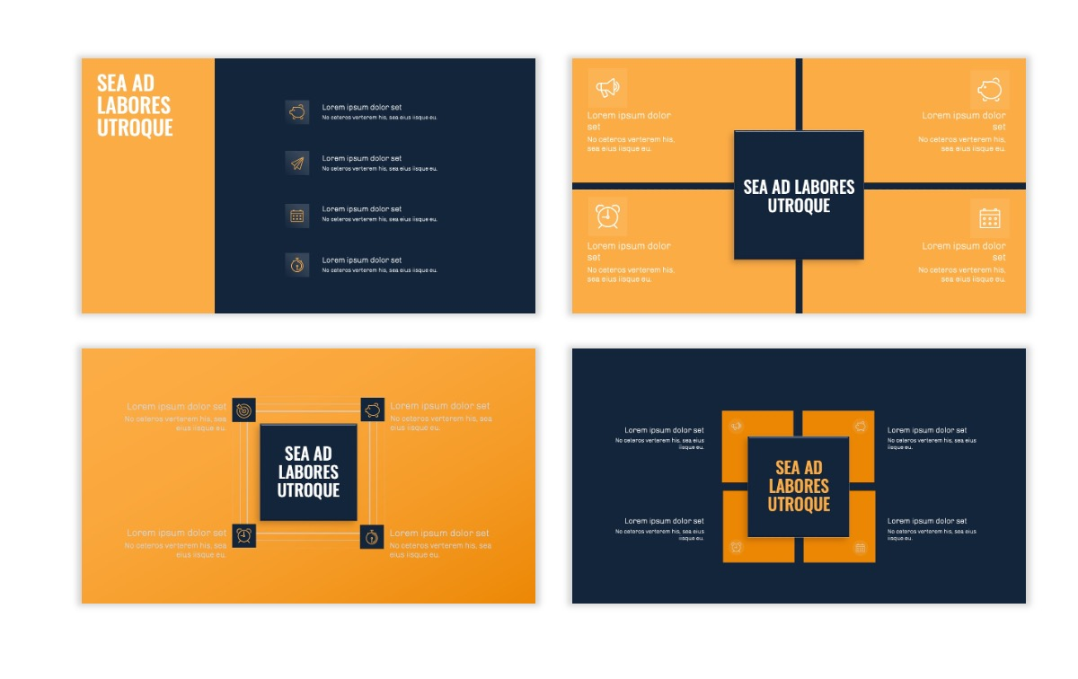 OSLO - Minimal - Dark Navy & Yellow - Business - Professional - Aesthetic - Clean - Minimal Slide16