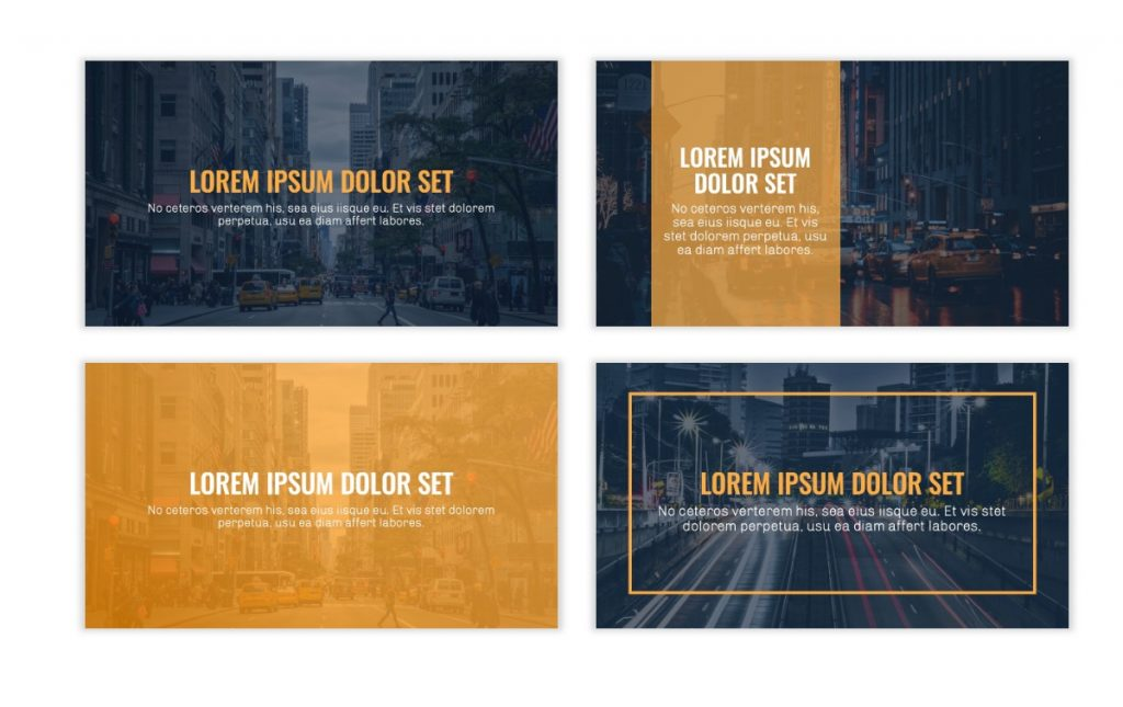 OSLO PROFESSIONAL NAVY & YELLOW FREE POWERPOINT TEMPLATE