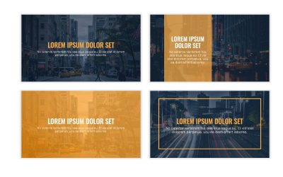 OSLO PROFESSIONAL NAVY AND YELLOW FREE POWERPOINT TEMPLATE