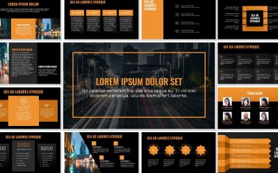 OSLO PROFESSIONAL DARK ORANGE FREE POWERPOINT TEMPLATE