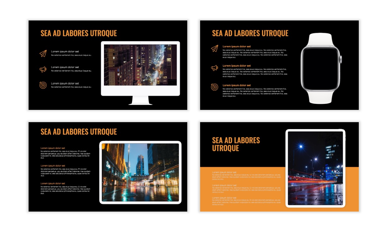 OSLO - Minimal - Dark Orange - Business - Professional - Aesthetic - Clean - Minimal Slide10