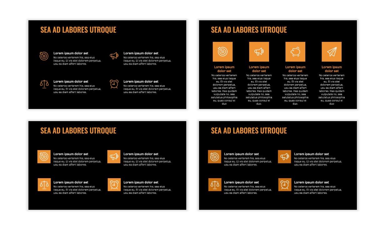 OSLO - Minimal - Dark Orange - Business - Professional - Aesthetic - Clean - Minimal Slide11