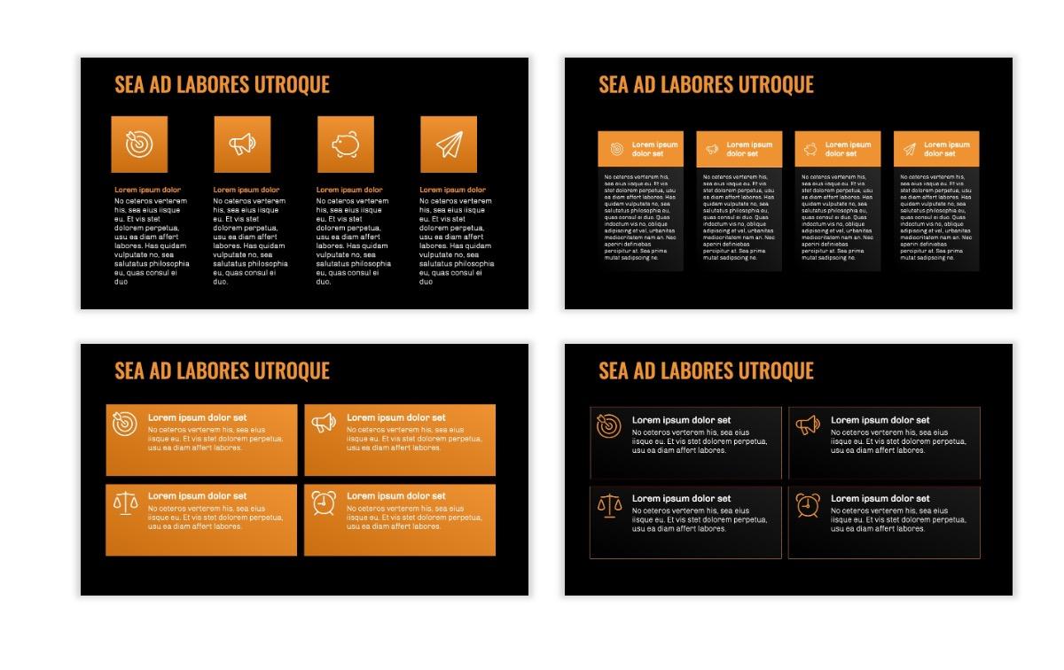 OSLO - Minimal - Dark Orange - Business - Professional - Aesthetic - Clean - Minimal Slide12