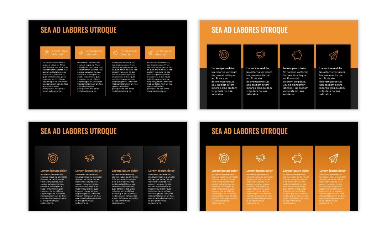 OSLO - Minimal - Dark Orange - Business - Professional - Aesthetic - Clean - Minimal Slide13