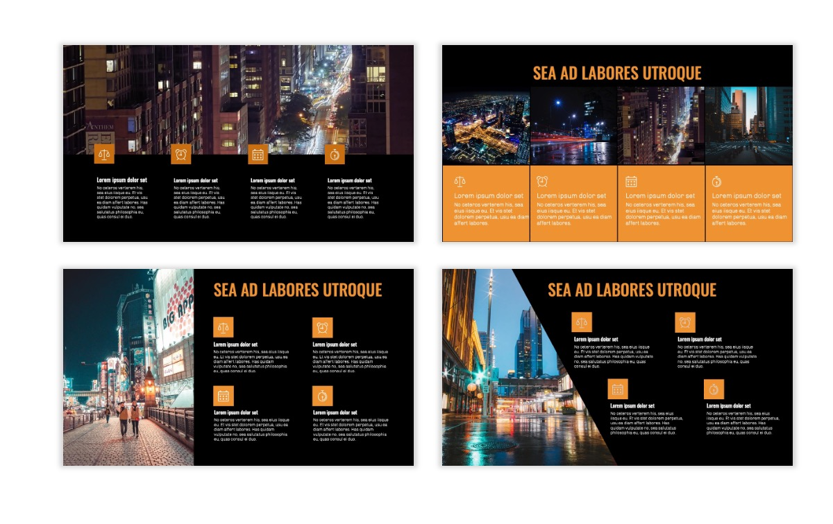 OSLO - Minimal - Dark Orange - Business - Professional - Aesthetic - Clean - Minimal Slide14
