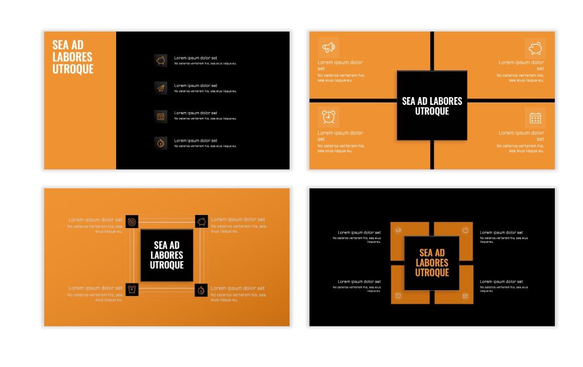 OSLO - Minimal - Dark Orange - Business - Professional - Aesthetic - Clean - Minimal Slide16