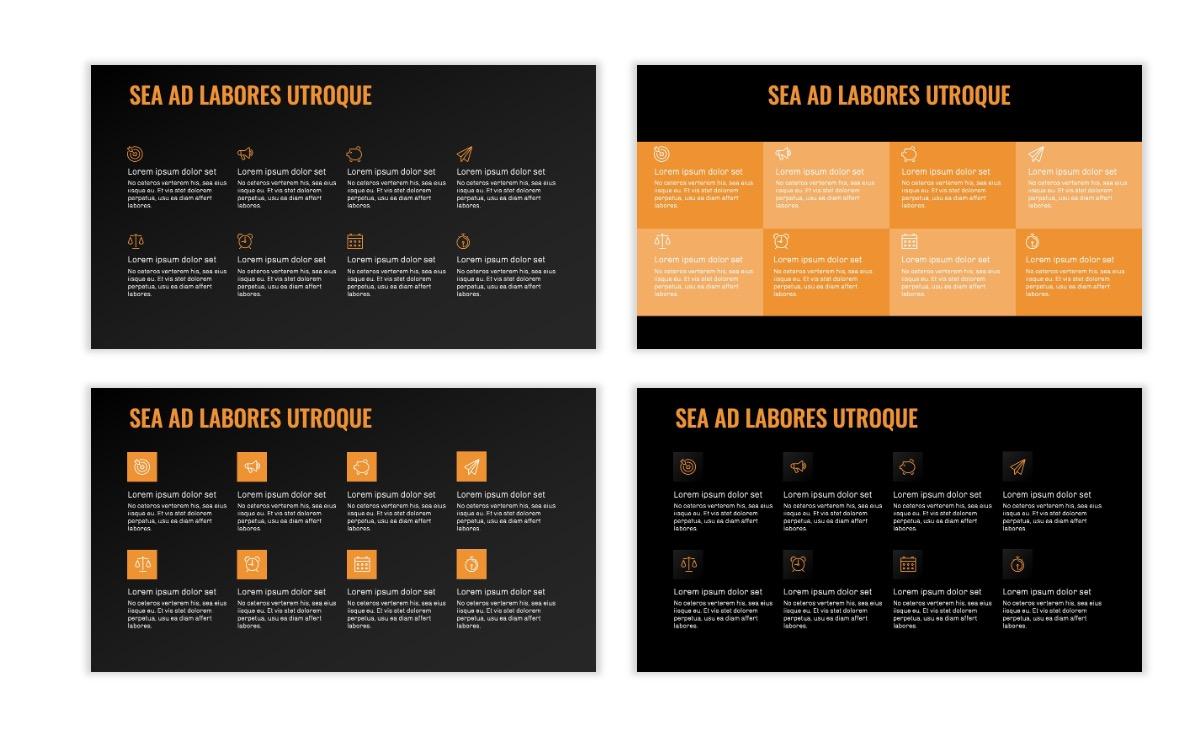 OSLO - Minimal - Dark Orange - Business - Professional - Aesthetic - Clean - Minimal Slide18