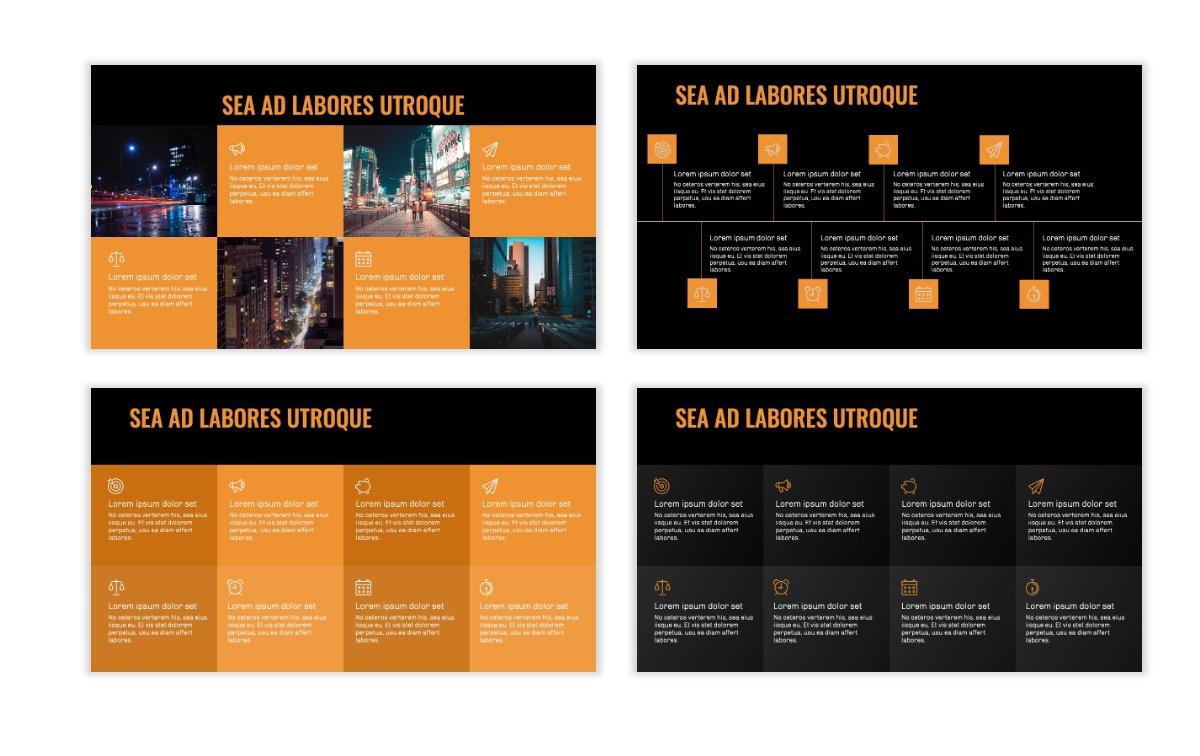 OSLO - Minimal - Dark Orange - Business - Professional - Aesthetic - Clean - Minimal Slide19