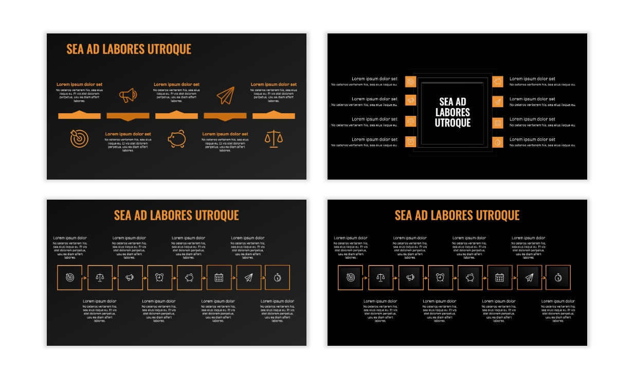 OSLO - Minimal - Dark Orange - Business - Professional - Aesthetic - Clean - Minimal Slide20