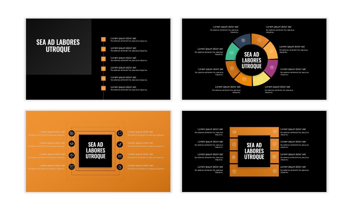 OSLO - Minimal - Dark Orange - Business - Professional - Aesthetic - Clean - Minimal Slide21