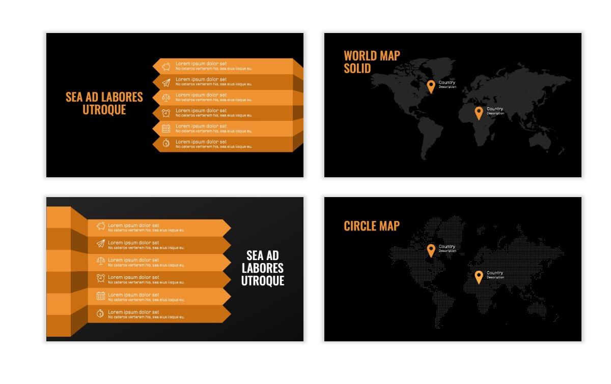 OSLO - Minimal - Dark Orange - Business - Professional - Aesthetic - Clean - Minimal Slide23