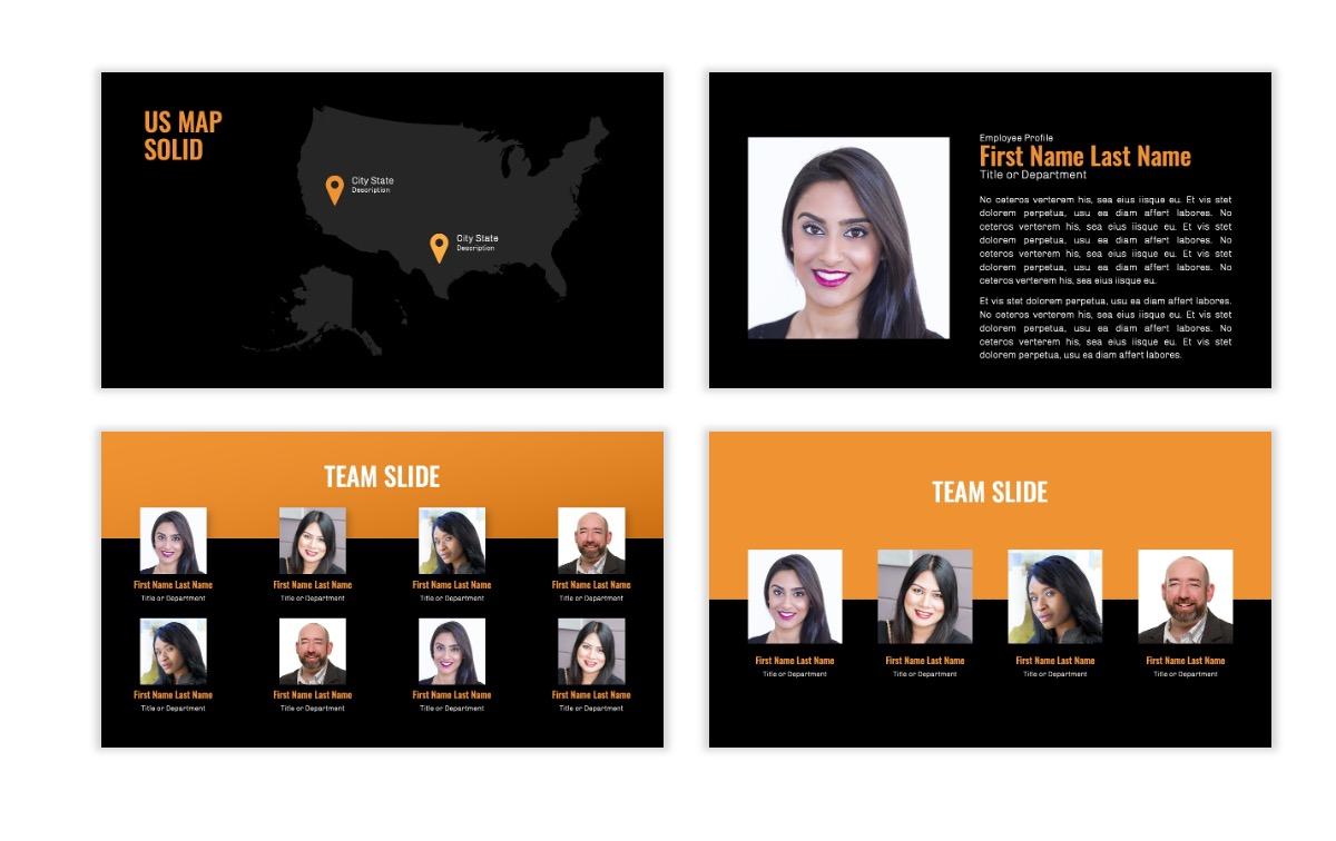 OSLO - Minimal - Dark Orange - Business - Professional - Aesthetic - Clean - Minimal Slide24