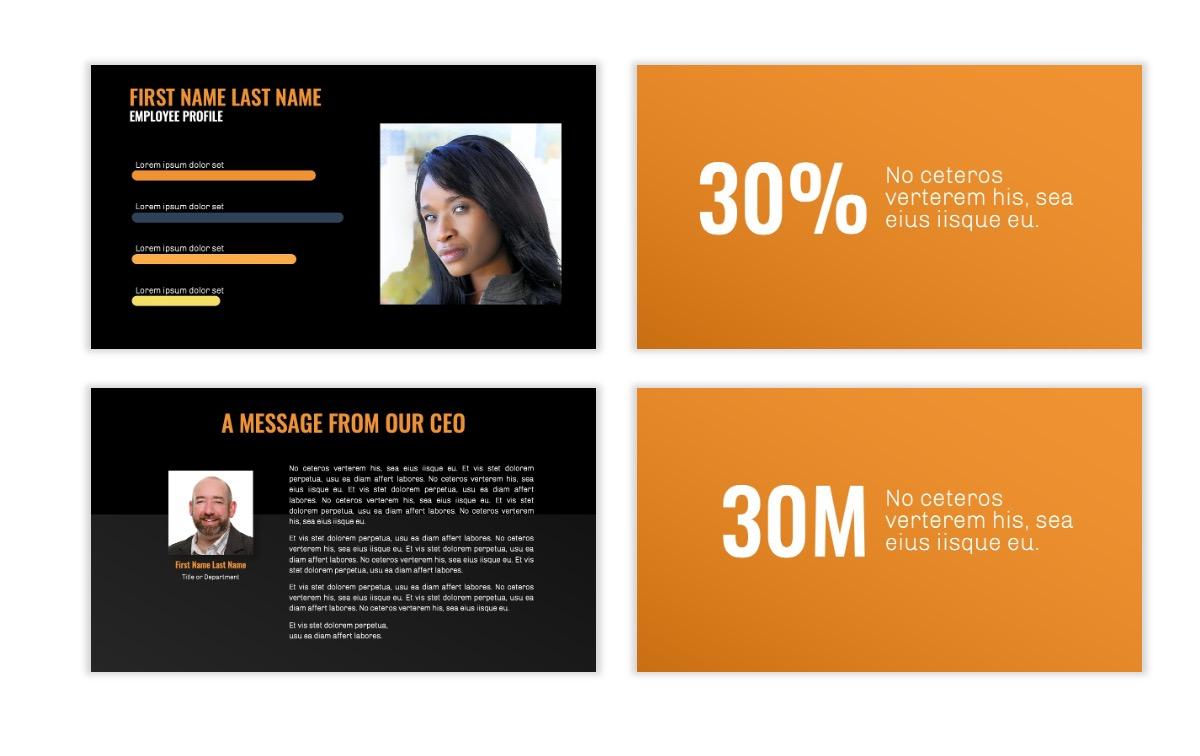 OSLO - Minimal - Dark Orange - Business - Professional - Aesthetic - Clean - Minimal Slide25