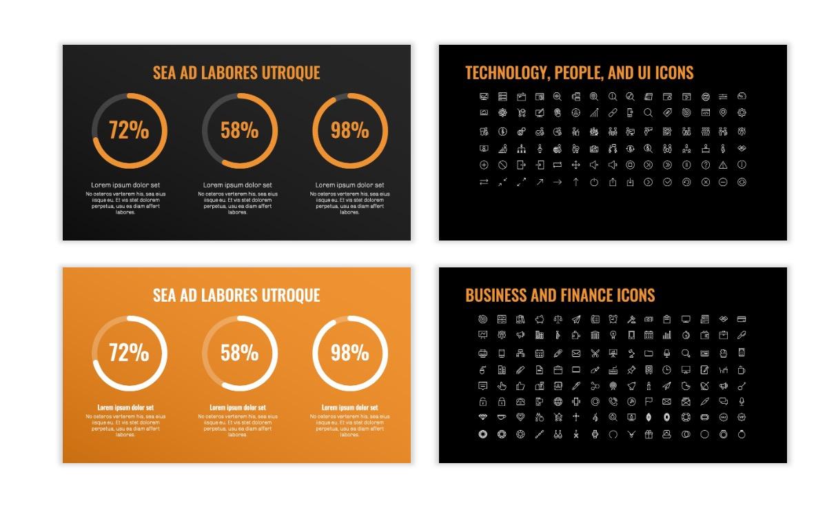 OSLO - Minimal - Dark Orange - Business - Professional - Aesthetic - Clean - Minimal Slide26