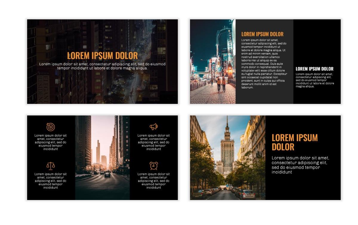 OSLO - Minimal - Dark Orange - Business - Professional - Aesthetic - Clean - Minimal Slide3