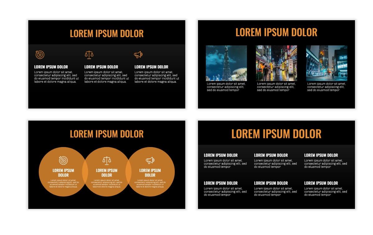 OSLO - Minimal - Dark Orange - Business - Professional - Aesthetic - Clean - Minimal Slide4