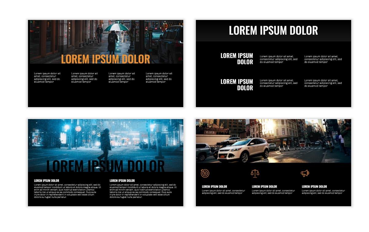 OSLO - Minimal - Dark Orange - Business - Professional - Aesthetic - Clean - Minimal Slide5