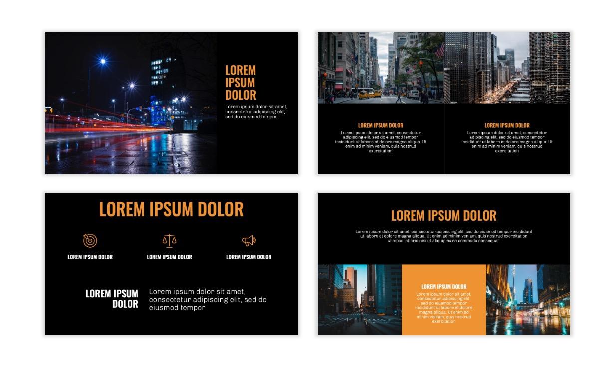 OSLO - Minimal - Dark Orange - Business - Professional - Aesthetic - Clean - Minimal Slide6