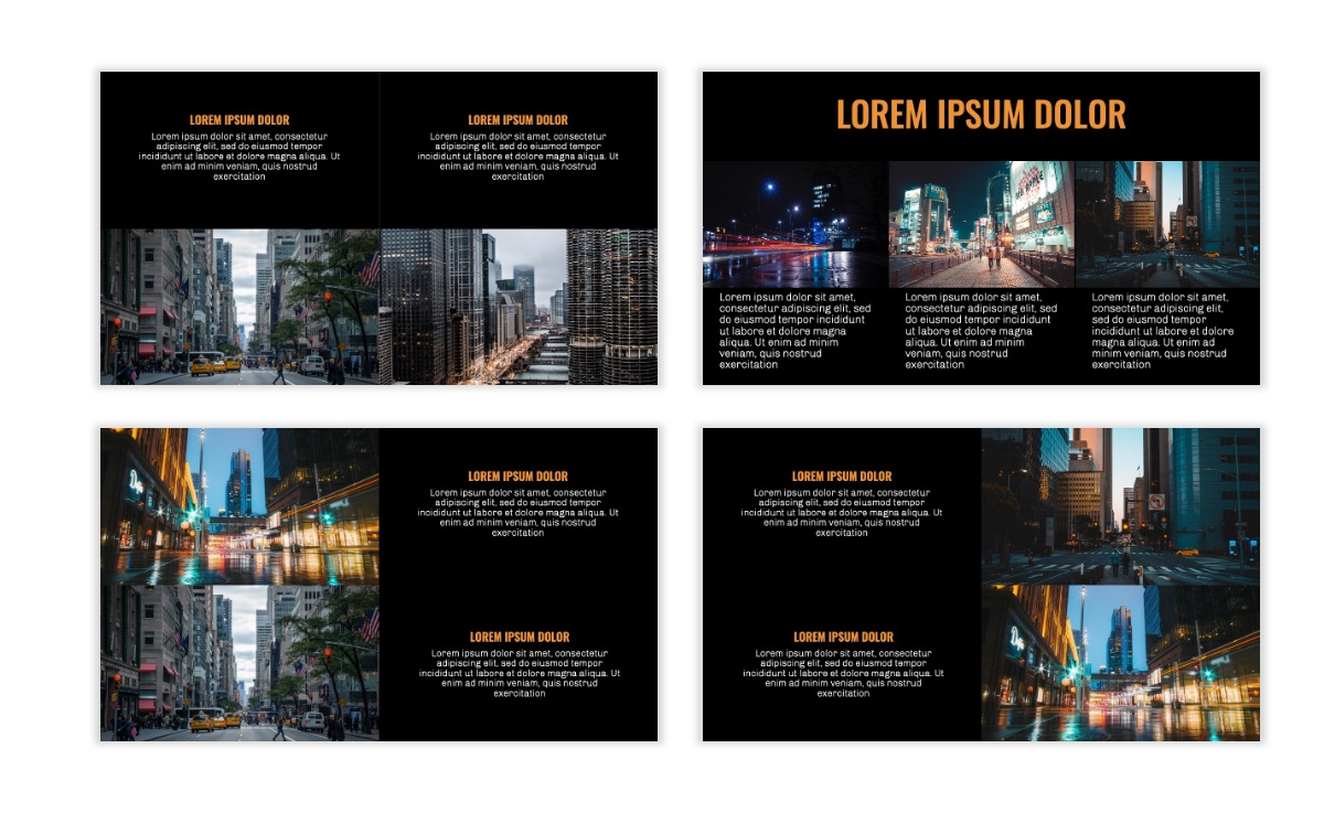 OSLO - Minimal - Dark Orange - Business - Professional - Aesthetic - Clean - Minimal Slide7