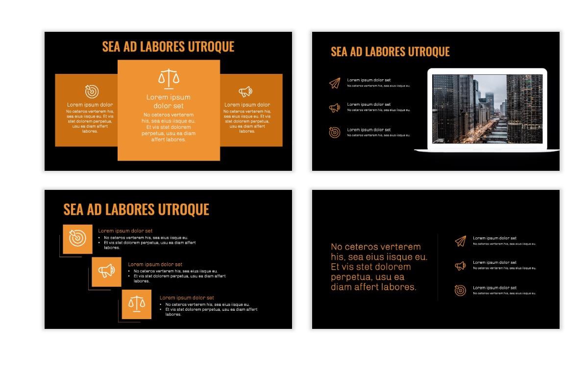 OSLO - Minimal - Dark Orange - Business - Professional - Aesthetic - Clean - Minimal Slide9