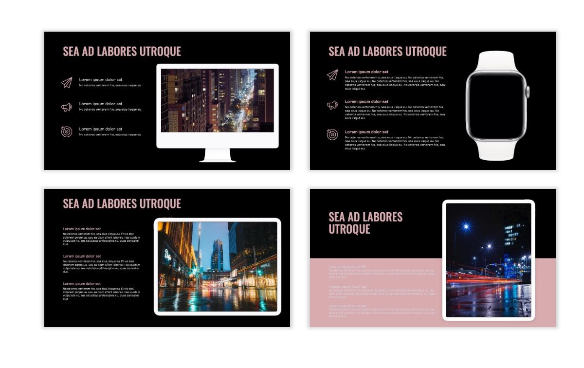 OSLO - Minimal - Dark Pale Pink - Business - Professional - Aesthetic - Clean - Minimal Slide10