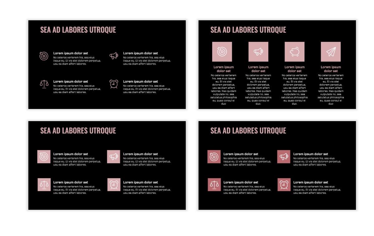 OSLO - Minimal - Dark Pale Pink - Business - Professional - Aesthetic - Clean - Minimal Slide11
