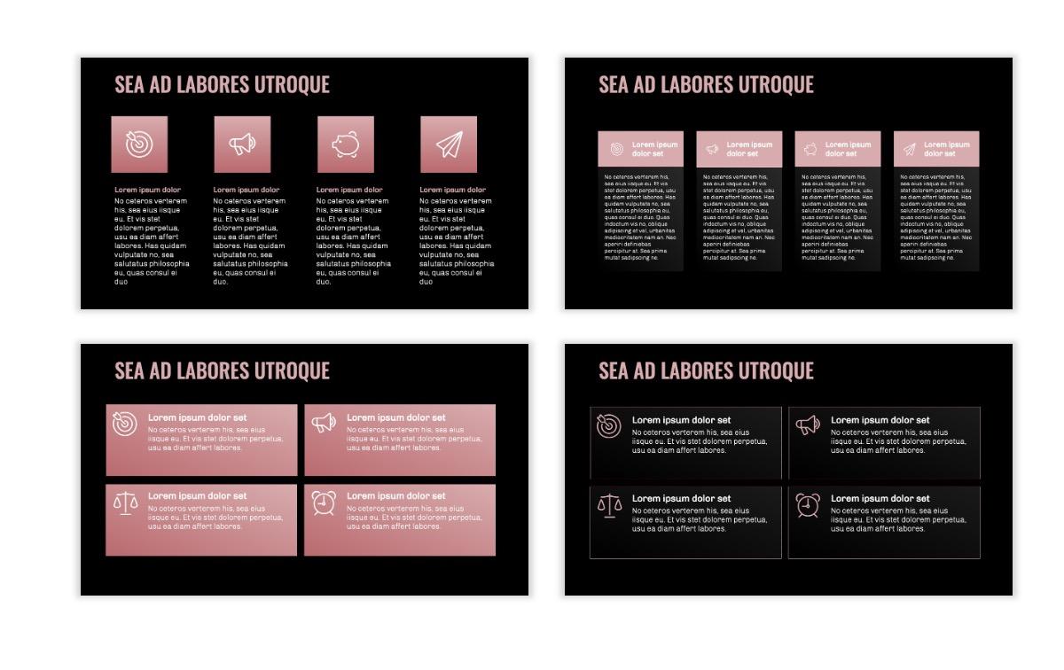 OSLO - Minimal - Dark Pale Pink - Business - Professional - Aesthetic - Clean - Minimal Slide12