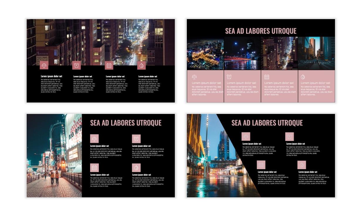 OSLO - Minimal - Dark Pale Pink - Business - Professional - Aesthetic - Clean - Minimal Slide14